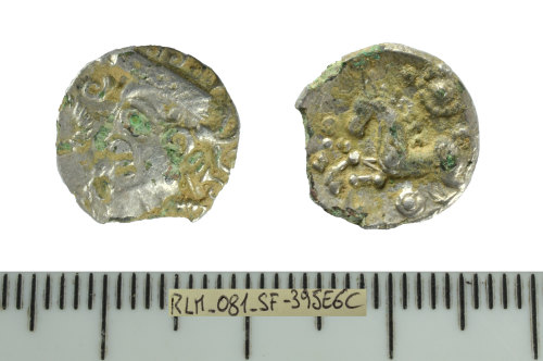 A resized image of Iron Age coin: a copy of a unit of the East Anglian region
