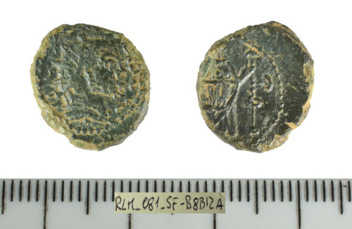 SF-B8B12A: Roman coin: Barbarous radiate copying an uncertain ruler