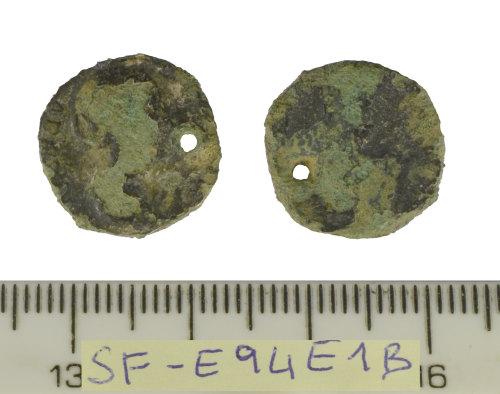 SF-E94E1B: Roman coin: plated Denarius of Faustina the Elder