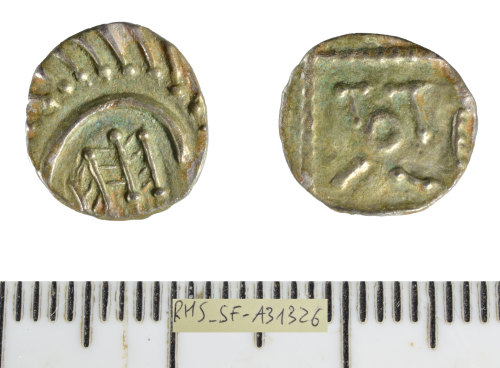 SF-A31326: Early Medieval (Anglo-Saxon) coin: sceat.
