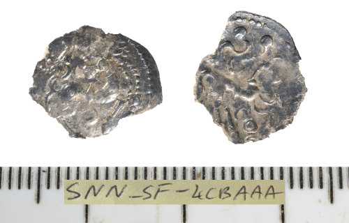 SF-4CBAAA: Iron Age coin: half unit.