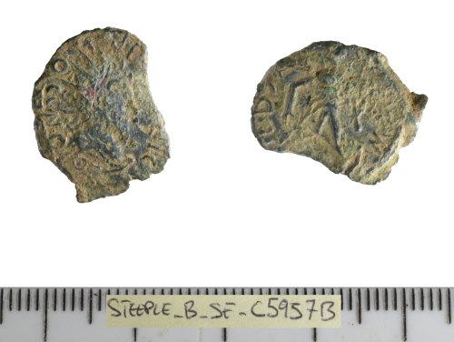 SF-C5957B: Roman coin: barbarous radiate.