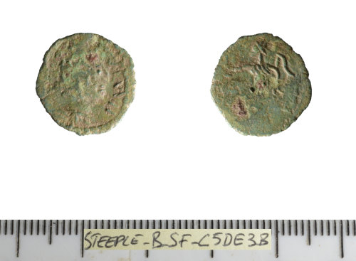 SF-C5DE3B: Roman coin: barbarous radiate.