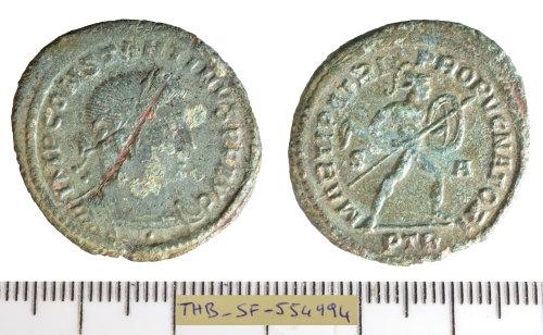 SF-554994: Roman coin: nummus of Constantine I.