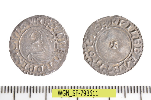 SF-79B611: Early Medieval coin: penny of Edward the Martyr.
