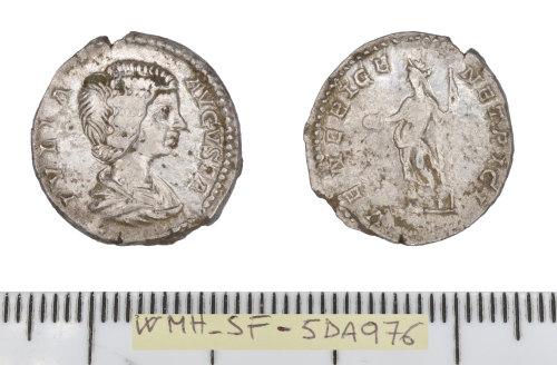 SF-5DA976: Roman coin: denarius of Julia Domna.