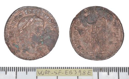 SF-EB398E: Roman coin: nummus of Maximian I.