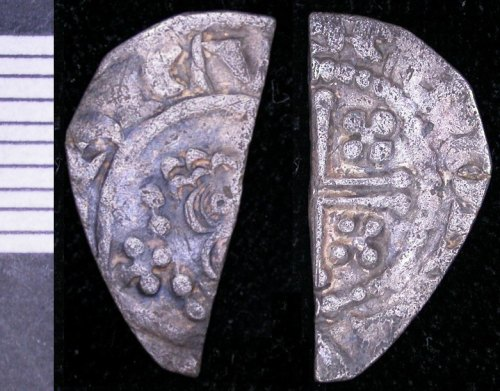 LEIC-B3F778: short cross cut half penny of Henry II