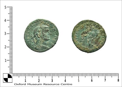 OXON-373BC1: Roman Coin - Follis Constantius I