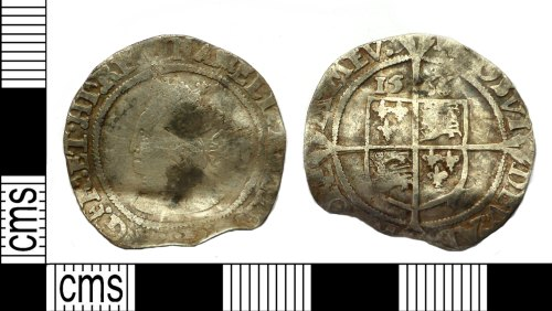 PUBLIC-3D2267: Post-medieval coin: Sixpence of Elizabeth I