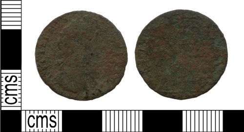 PUBLIC-D89474: PUBLIC-D89474 post medieval coin, farthing of William III
