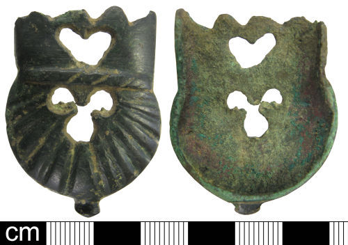 WAW-008626: Medieval copper-alloy chape