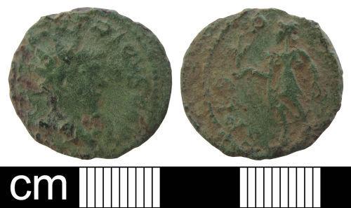WAW-0A28E1: Roman coin: Radiate of Tetricus I