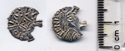 BUC-08EE42: 9th C silver halfpenny