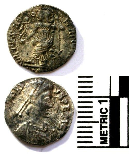 BUC-BB0E42: Silver siliqua of Honorius