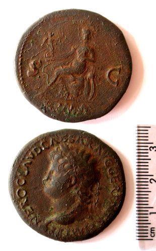 BUC-182D56: A copper alloy coin of Nero