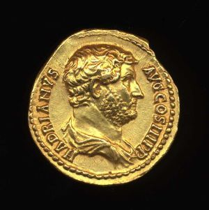 Obverse image of a coin of Hadrian