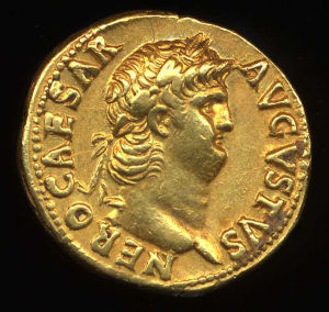 Obverse image of a coin of Nero