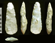 A resized image of Neolithic flint axe