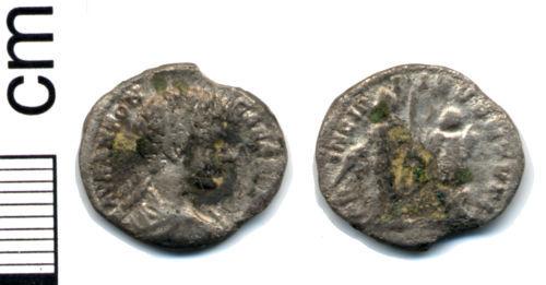 HAMP-02B8A2: Roman coin: Denarius of Caracalla