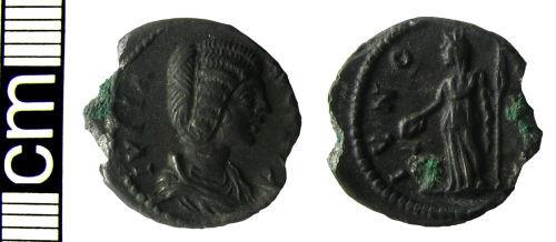 HAMP-03C857: Roman coin: Plated copy denarius of Julia Domna