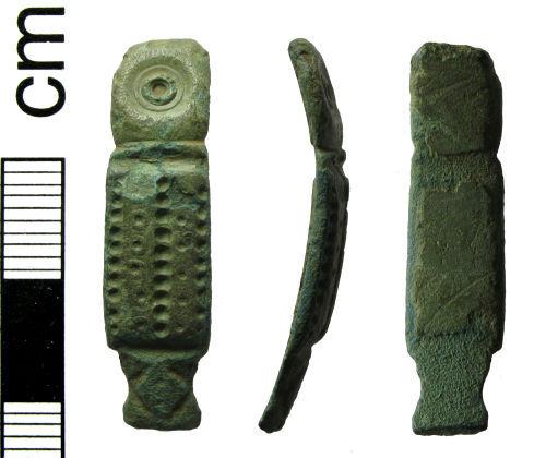 HAMP-0BDD77: Roman multiple motif bracelet fragment