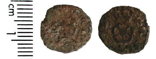 HAMP-1D7EC2: Post-medieval coin: Rose farthing of Charles I
