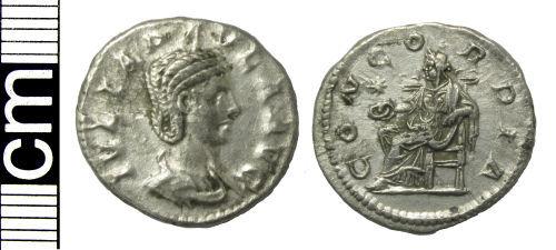 HAMP-21FC97: Roman coin: Denarius of Julia Paula