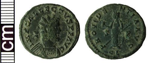 HAMP-22FE18: Roman coin: Radiate of Allectus