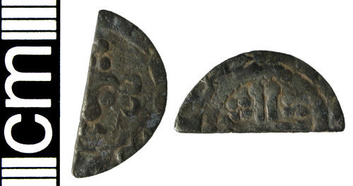 HAMP-243E52: Medieval coin: Cut halfpenny of Henry III (Class 8c)
