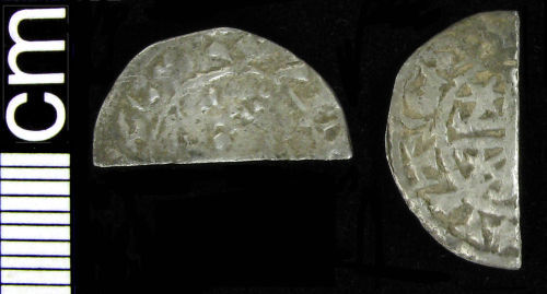 HAMP-275582: Medieval coin: Cut Scottish halfpenny of William I or Alexander II