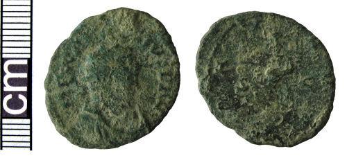 HAMP-29FAD3: Roman coin: Radiate of Carausius (probably)