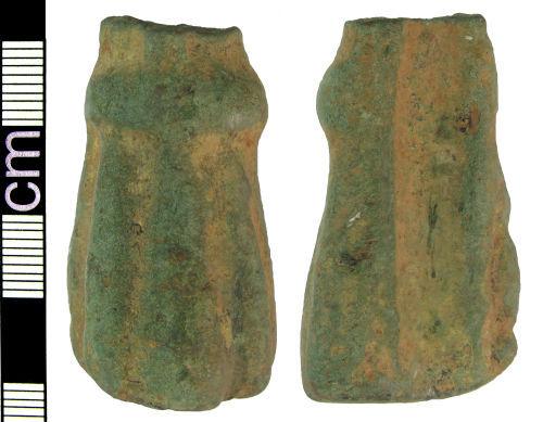 HAMP-2E2751: Medieval/post-medieval cooking vessel foot