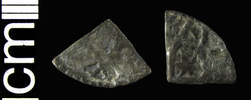 HAMP-2FC8E7: Medieval coin: Cut farthing of William I or Alexander II of Scotland