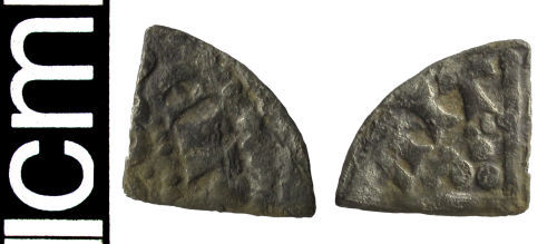 HAMP-30AB96: Medieval coin: Cut farthing of Henry III