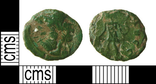 HAMP-336128: Roman coin: Barbarous radiate copying an issue of Tetricus I