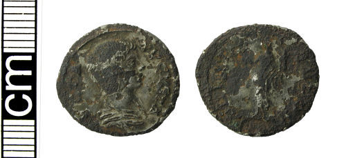 HAMP-3498C6: Roman coin: Plated copy denarius of Julia Domna