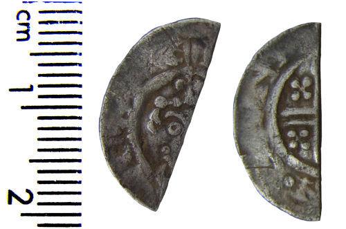HAMP-373BF0: Medieval coin: Cut halfpenny of Richard I or John