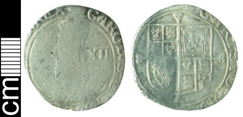 HAMP-3CFAB7: Post-medieval coin: Shilling of Charles I