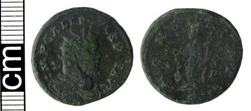 HAMP-4483E3: Roman coin: Radiate of Allectus