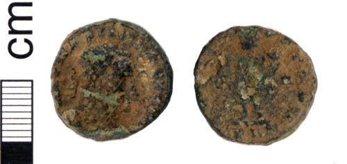 HAMP-468E06: Roman coin: Nummus of Licinius I (probably)