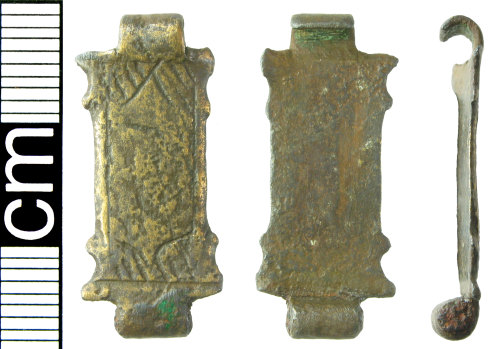 HAMP-4EF407: Post-medieval clasp (probable book fitting)