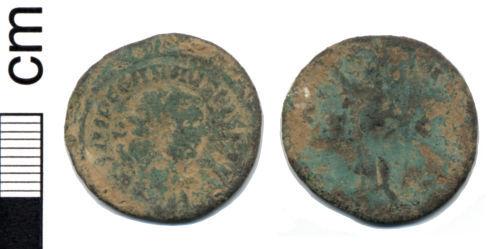 HAMP-4FFD87: Roman coin: Radiate of Carausius