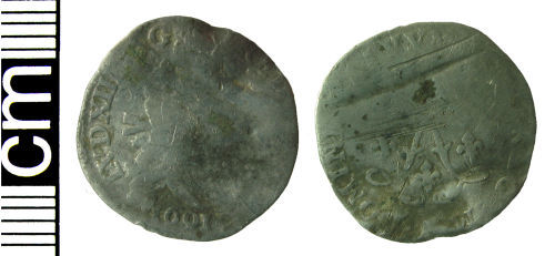 HAMP-53B922: Post-medieval coin: 4 sols 2 deniers piece of Louis XIV (of France)