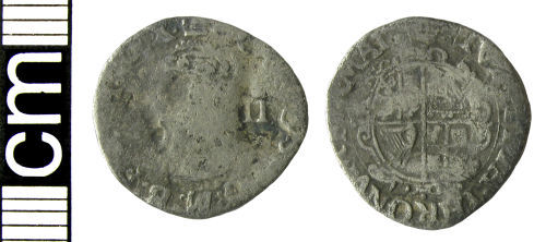 HAMP-6EED32: Post-medieval coin: Halfgroat of Charles I