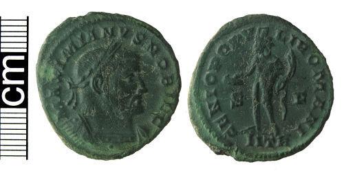 HAMP-754658: Roman coin: Nummus of Galerius