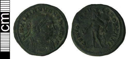 HAMP-7D75E2: Roman coin: Nummus of Galerius
