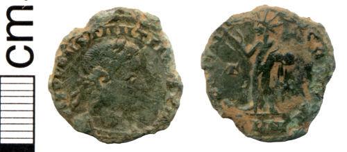 HAMP-969161: Roman coin: Nummus of Constantine I