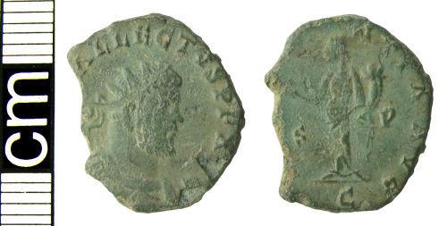 HAMP-9EBDD3: Roman coin: Radiate of Allectus