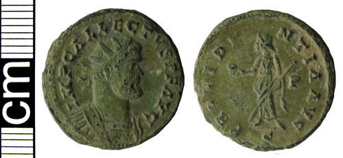 HAMP-A19044: Roman coin: Radiate of Allectus